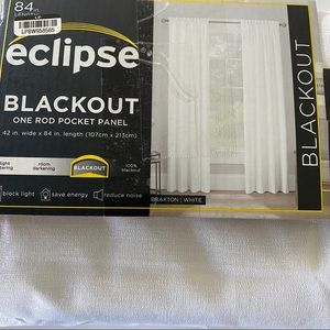 Eclipse Blackout Curtain Panel Textured White